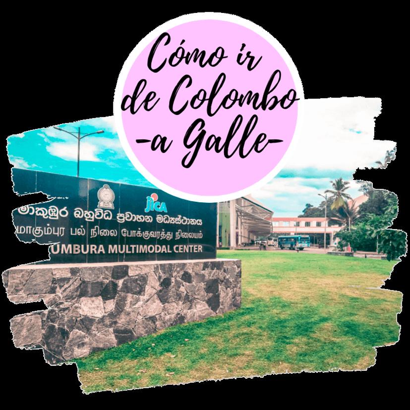 Cómo ir de Colombo a Galle