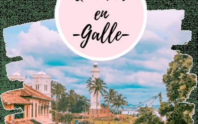 Qué ver en Galle