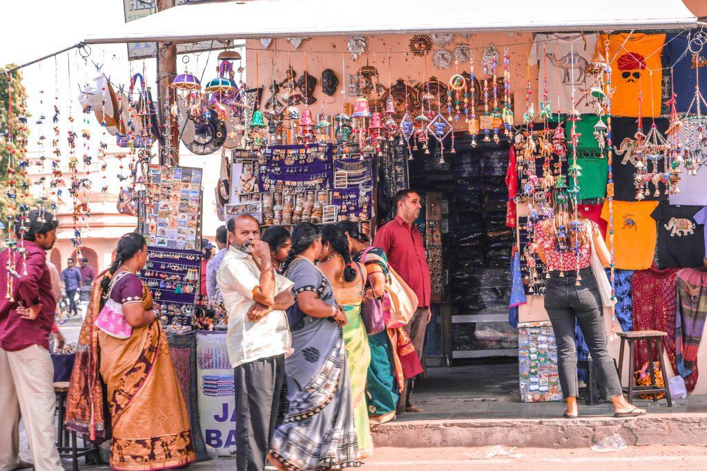 bazar ciudad rosa india