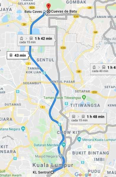 Como ir de Kuala Lumpur a Batu Caves