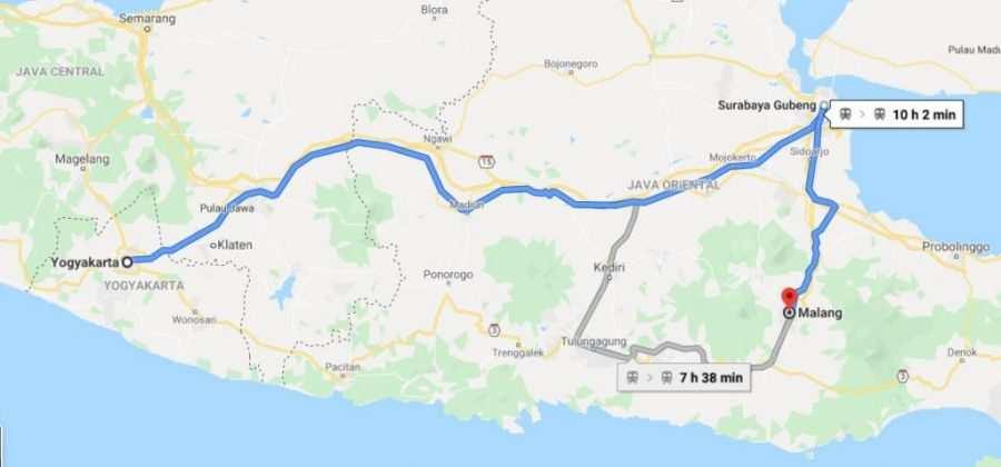 Cómo ir de Yogyakarta a Malang