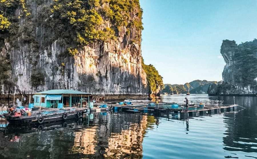 Pueblo flotante Cai Beo