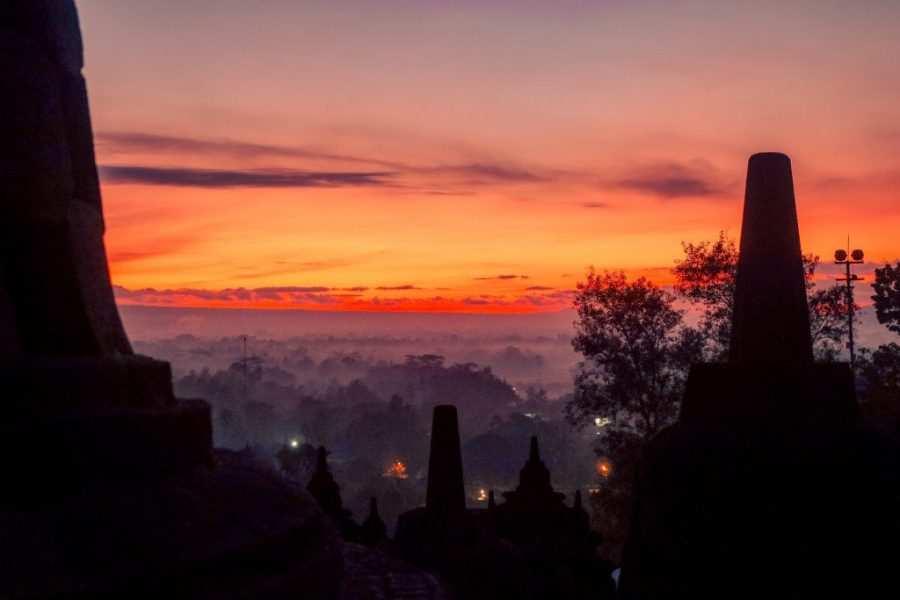 Templo Borobudur amanecer