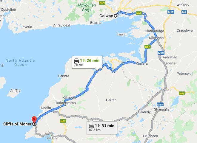 Cómo llegar a los acantilados de Moher desde Galway