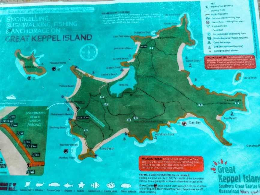 Mapa de Great Keppel Island